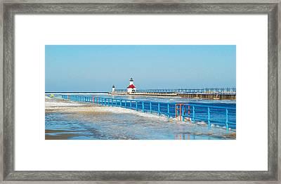 Saint Joseph North Pier 2603 Framed Print by Michael Peychich