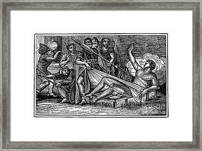 Saint Lawrence (c225-258) Framed Print by Granger