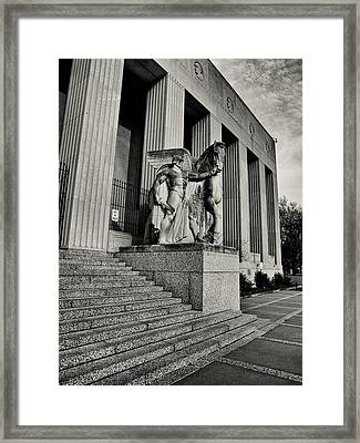 Saint Louis Soldiers Memorial Exterior Black And White Framed Print by Joshua House