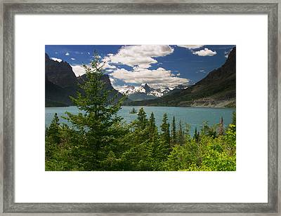 Saint Mary Lake And Wild Goose Island No.11 Framed Print by Randall Nyhof