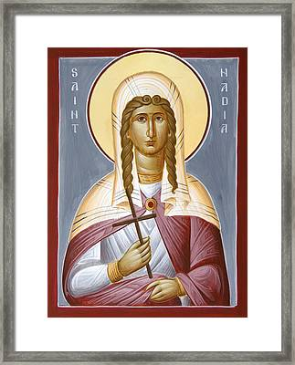 Saint Nadia - Hope Framed Print by Julia Bridget Hayes