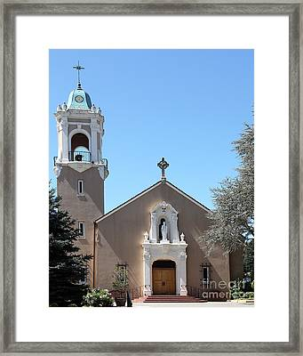 Saint Patrick's Church - Larkspur California - 5d18470 Framed Print by Wingsdomain Art and Photography