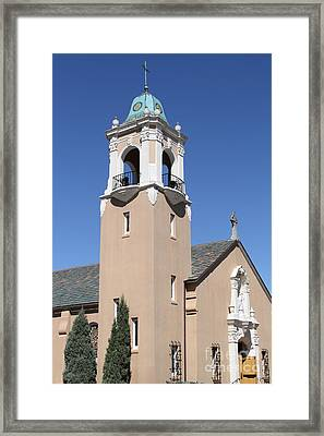 Saint Patrick's Church - Larkspur California - 5d18550 Framed Print by Wingsdomain Art and Photography