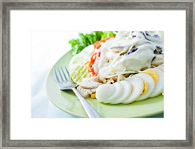Salad Mixed For Healthy Framed Print by Chatuporn Sornlampoo