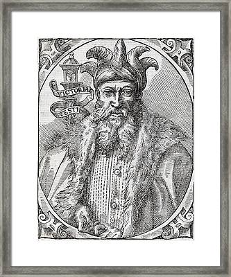 Saladin, Sultan Of Egypt And Syria Framed Print by Middle Temple Library
