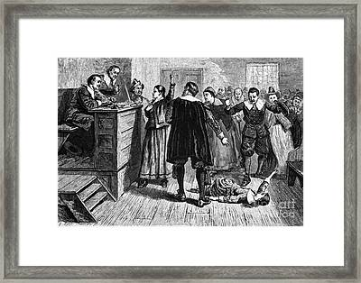 Salem Witch Trials, 1692-93 Framed Print by Photo Researchers