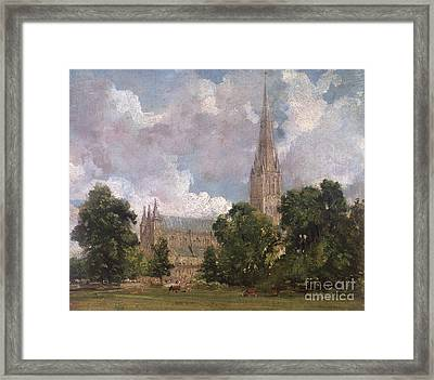 Salisbury Cathedral From The South West Framed Print by John Constable