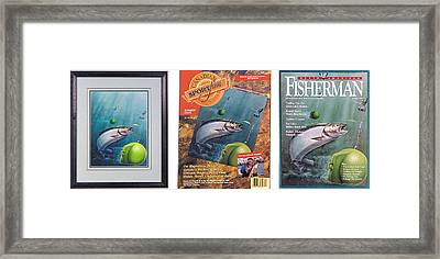 Salmon And Down Rigger Framed Print by JQ Licensing