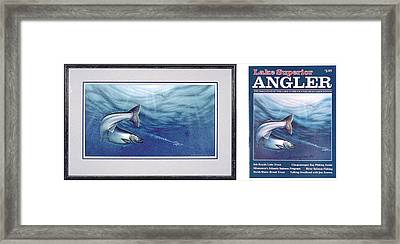 Salmon And J-plugs Framed Print by JQ Licensing