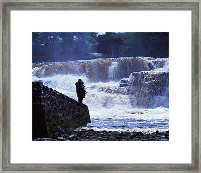 Salmon Fishing, Ballisodare River, Co Framed Print by The Irish Image Collection