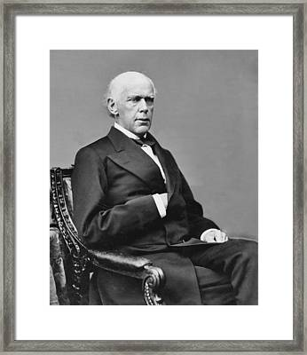 Salmon P. Chase 1808-1873 Was Nominated Framed Print by Everett