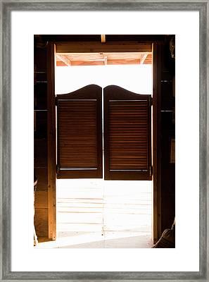 Saloon Doors Framed Print by Adam Burn