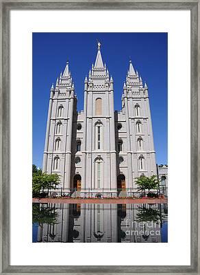 Salt Lake Mormon Temple Framed Print by Gary Whitton