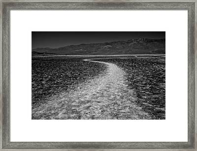 Salt Road Framed Print by Matt  Trimble