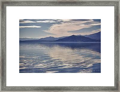 Salton Seascape Framed Print by Linda Dunn