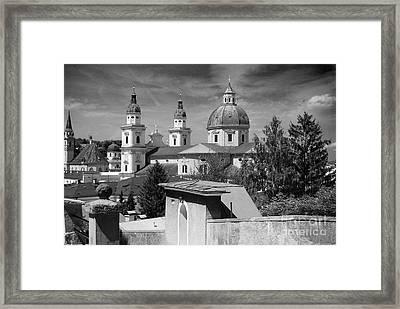 Salzburg Black And White Austria Europe Framed Print by Sabine Jacobs