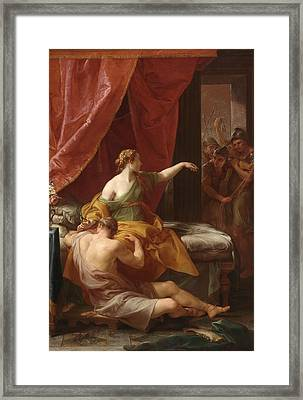 Samson And Delilah Framed Print by Pompeo Girolamo Batoni