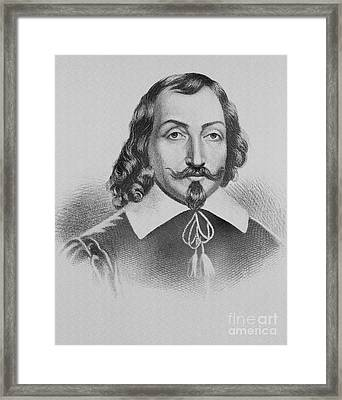 Samuel De Champlain Framed Print by Photo Researchers