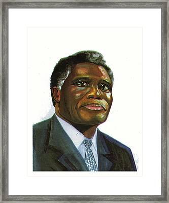 Samuel Kobia Framed Print by Emmanuel Baliyanga