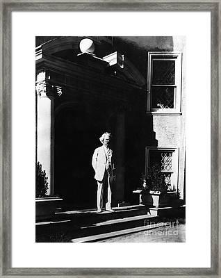 Samuel Langhorne Clemens  (1835-1910). Mark Twain. American Writer And Humorist. Photographed, C1900 Framed Print by Granger