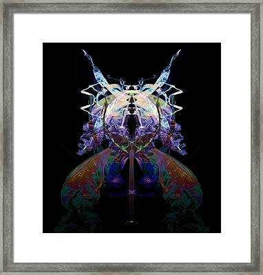 Samurai Bug Plant Framed Print by David Kleinsasser