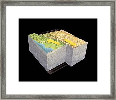 San Andreas Fault Earthquake, Art Framed Print by Gary Hincks