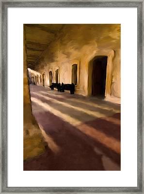 San Cristobal Shadows Framed Print by Sven Brogren