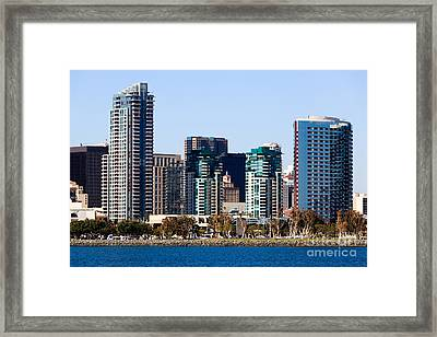 San Diego California Skyline Framed Print by Paul Velgos