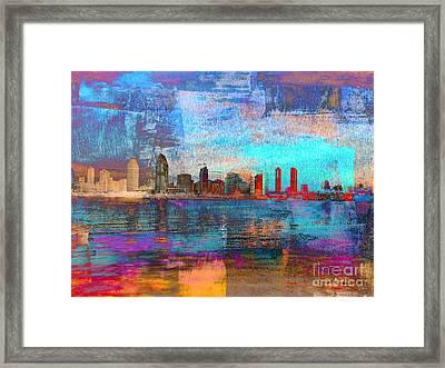 San Diego Skyline Framed Print by Irina Hays