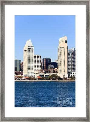 San Diego Skyscrapers Framed Print by Paul Velgos