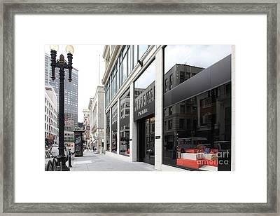 San Francisco - Maiden Lane - Prada Italian Fashion Store - 5d17800 Framed Print by Wingsdomain Art and Photography
