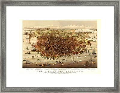 San Francisco 1878 Framed Print by Donna Leach