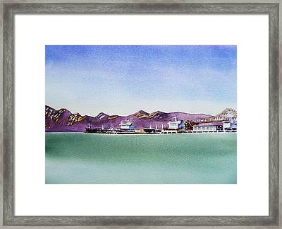 San Francisco Bay Richmond Port Framed Print by Irina Sztukowski