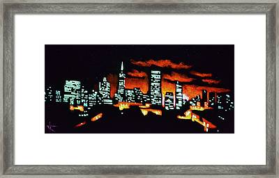 San Francisco Black Light Framed Print by Thomas Kolendra