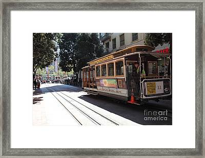 San Francisco Cable Car At The Powell Street Cable Car Turnaround - 5d17963 Framed Print by Wingsdomain Art and Photography