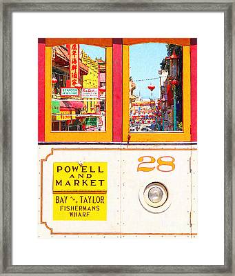San Francisco Cablecar 28 . Chinatown Framed Print by Wingsdomain Art and Photography
