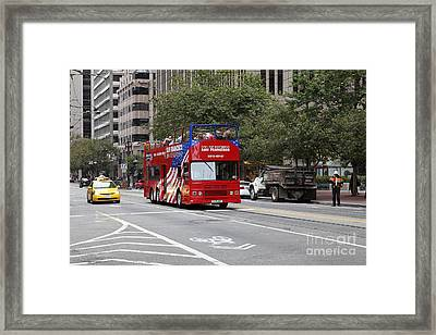 San Francisco Double Decker Tour Bus On Market Street - 5d17851 Framed Print by Wingsdomain Art and Photography