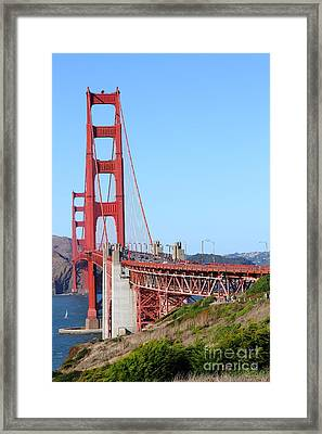 San Francisco Golden Gate Bridge . 7d8157 Framed Print by Wingsdomain Art and Photography