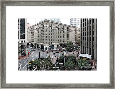 San Francisco Market Street - 5d17873 Framed Print by Wingsdomain Art and Photography