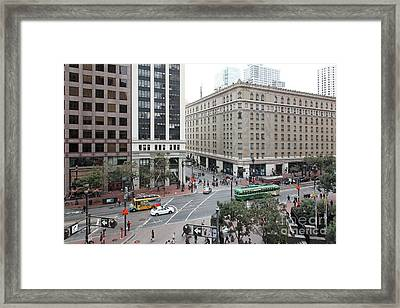 San Francisco Market Street - 5d17883 Framed Print by Wingsdomain Art and Photography