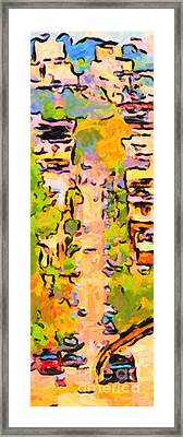 San Francisco Noe Street In Abstract Framed Print by Wingsdomain Art and Photography