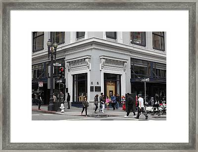 San Francisco Shreve And Company On Grant Street - 5d17920 Framed Print by Wingsdomain Art and Photography