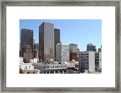 San Francisco Skyline . 7d7491 Framed Print by Wingsdomain Art and Photography