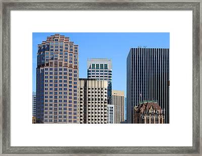 San Francisco Skyline . 7d7493 Framed Print by Wingsdomain Art and Photography