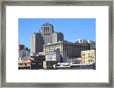 San Francisco Skyline . 7d7494 Framed Print by Wingsdomain Art and Photography