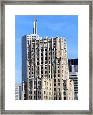 San Francisco Skyline . 7d7495 Framed Print by Wingsdomain Art and Photography