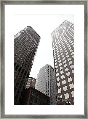 San Francisco Tall Buildings In The Financial District - 5d17897 Framed Print by Wingsdomain Art and Photography