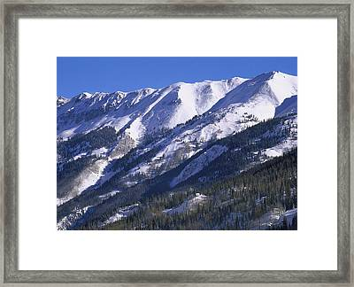 San Juan Mountains Covered In Snow Framed Print by Tim Fitzharris