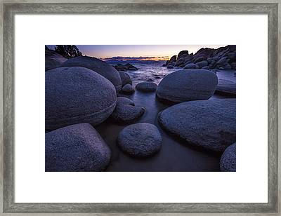 Sand Harbor Framed Print by Rick Berk