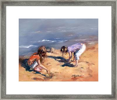 Sandcastles Framed Print by Catherine Marchand